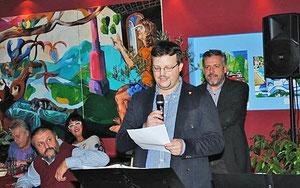 Ansprache von Matthias Laurenz Gräff. Foto: Taverne Zorbas