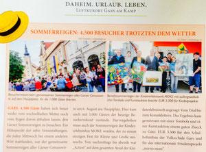 Bericht in den Garser Gemeindenachrichten, Nr. 6, Herbst 2014