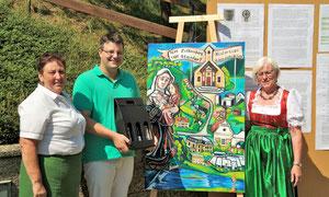 Danksagung des Verschönerungsvereines an Matthias Laurenz Gräff  (Fotorechte  Christine Steininger)