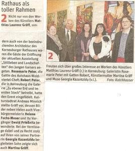 Matthias Laurenz Gräff. Bericht in der NÖN Horn (Woche 14) Copyright by Martin Kalchhauser