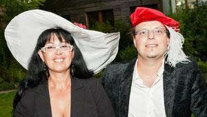 Matthias Laurenz Gräff und Georgia Kazantzidu. Pressefoto für den Garser Kulturbrief (Podolsky, mediadesign Burgschleinitz)