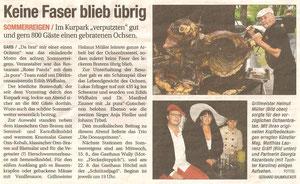 Bericht in der NÖN Horn (Woche 33) Copyright by Gerhard Baumrucker