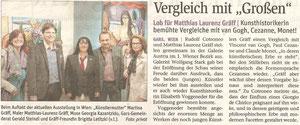 Matthias Laurenz Gräff. Pressbericht in der NÖN Horn (Woche 24) Copyright by Martin Kalchhauser