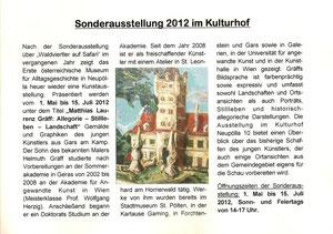 Matthias Laurenz Gräff. Vorartikel in den Gemeindenachrichten (Nr. 1/März 2012)
