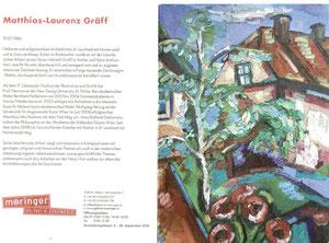 Ausstellungseinladung Matthias Laurenz Gräff in der Galerie Maringer