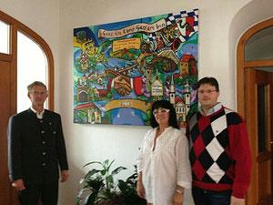 Matthias Laurenz Gräff mit Georg Thanner und Georgia Kazantzidu
