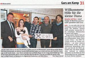 Bericht in der NÖN Horn (Woche 49) Copyright by Rupert Kornell