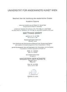 Diplom Matthias Laurenz Gräff