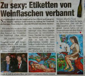 """Matthias Laurenz Gräff, Garser Wein. Tageszeitung """"Heute"""", Mo, 28. 4. 2014, Nr. 1995"""