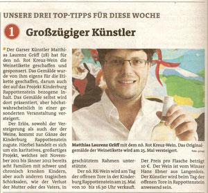 (Vor)bericht in den Bezirksblättern (Waldviertler) Horn (Ausgabe 21) Copyright by Hilda Schwameis