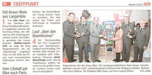 Matthias Laurenz Gräff, Wolfgang Sobotka, Willi Sauer. Pressebericht in der NÖN Krems (Woche 21) Copyright by Chris Leneis