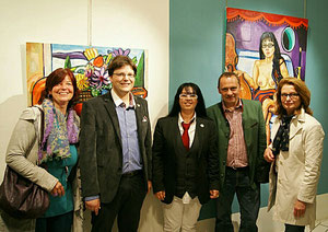 Künstlermutter Mag. Martina Gräff, der Künstler Matthias Laurenz Gräff, Georgia, der Garser GGR Gerald Steindl, Brigitta Letitzki, MBA