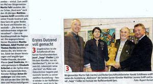 Bericht in der NÖN Horn (Woche 44) Copyright by Rupert Kornell