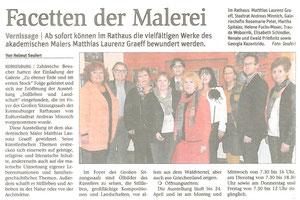 Matthias Laurenz Gräff. Bericht in der NÖN Korneuburg (Woche 13) Copyright by Helmut Seufert