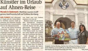 Bericht in der NÖN Horn (Woche 33) Copyright by Martin Kalchhauser