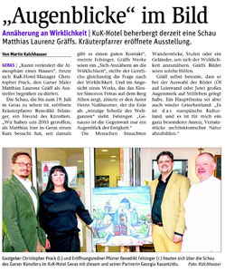 Bericht in der NÖN Horn (Woche 24), Martin Kalchhauser