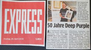 Pressebericht über die Veranstaltung/Ausstellung im Kölner Express