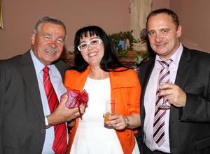 Personen von links nach rechts: der Wiener SPÖ-Landtagsabgeordnete Voikmar Harwanegg, Georgia Kazantzidu und der Garser GGR der SPÖ, Gerald Steindl. Copyright by Martin Kalchhauser (NÖN Horn)