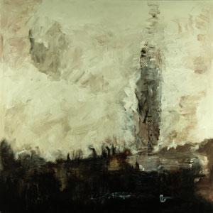 Nebel am Weiher (100x100) - 2012     (in Privatbesitz)