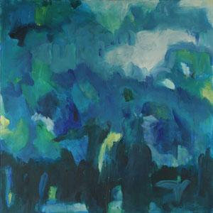 Les montagnes bleues (100x100) - 2014