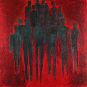Flucht (80x80) - 2009     (in Privatbesitz)