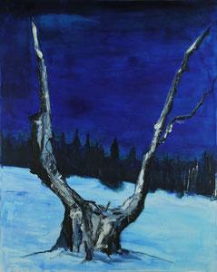 Winternacht (80x100) -2012     (in Privatbesitz)