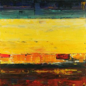 Sonnenuntergang (100x100) - 2008     (in Privatbesitz)