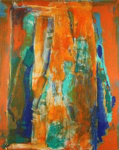 Im Museum - orange (80x100) - 2008     (in Privatbesitz)