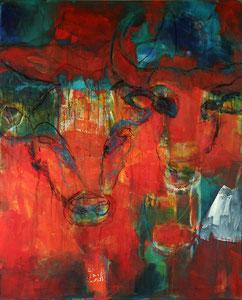Stiere (80x100) - 2014     (in Privatbesitz)