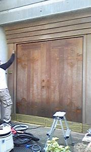 門扉の「補修前」