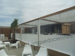 Bache fermeture de terrasse bl bache sur mesure for Bache terrasse transparente