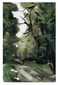 In the forest  /  Im  Wald1   35x22 2002