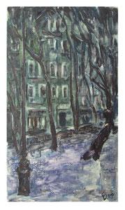 Boulevard in winter / Boulevard im Winter    50x29cm  2014