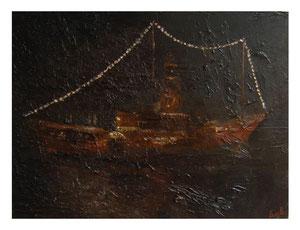 Night ship / Nacht Schiff   30x40cm  2009