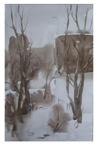 Snow day  /  Schneetag  35x22,5cm 2007