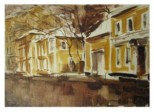 Yellow street / Gelbe Straße     35x50cm  2014