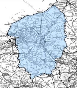 DAB+ multiplex Rouen étendu, canal 10A