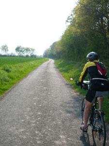 circuit vélo sur des petites routes