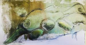 WASSERTIER ; Aquarell auf Papier