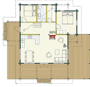 Kuusamo Blockhaus 80ON - EG