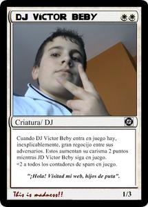 Carta DJ Víctor Beby