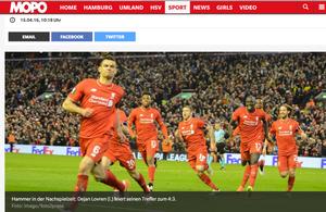 FC Liverpool - Borussia Dortmund, MOPO, 15.04.2016