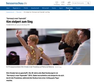 GNTM, hessenschau.de, 13.05.2016