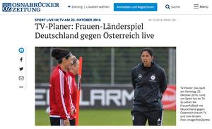 Steffi Jones, Osnabrücker Zeitung, 22.10.2016