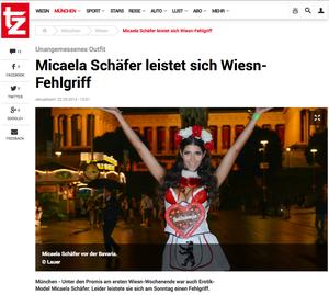 Michaela Schäfer, TZ online, 22.09.2014