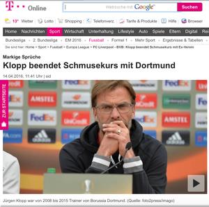 Jürgen Klopp, t-online, 14.04.2016