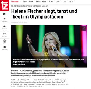 Helene Fischer, tz-online, 14.06.2015
