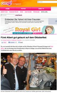 Fürst Albert von Monaco, yahoo.de