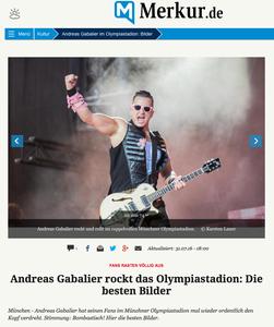 Andreas Gabalier, Münchner Merkur, 31.07.2016