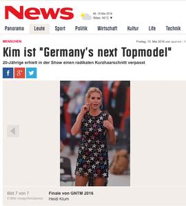 Heidi Klum, news.de, 18.05.2016